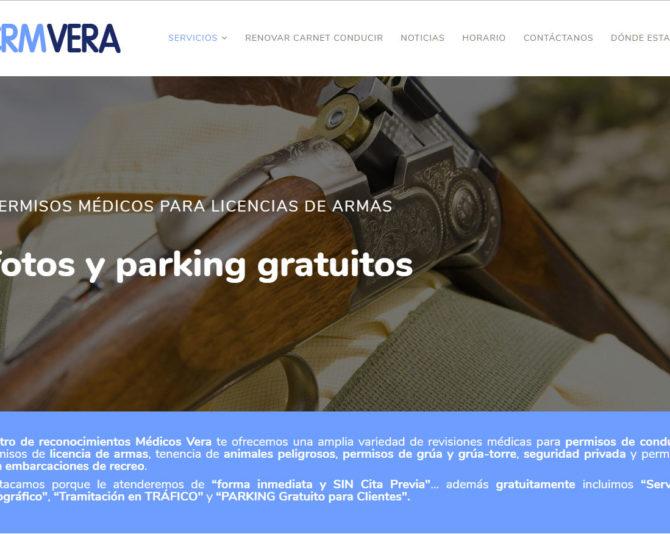 Nueva Página Web de Certificados Médicos en Castellón www.crmvera.es +Autoadministrable +Parallax +Móviles