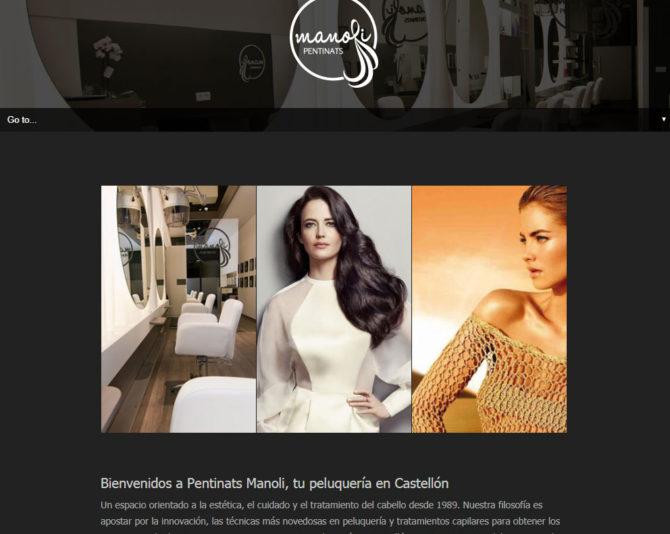 Presentamos la Web de Peluquería y Estética en Castellón www.pentinatsmanoli.com +Autoadministrable +Catálogo +Móviles