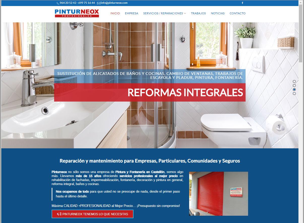 Nuevo Diseño Web de Pintores y Reformas en Castellón
