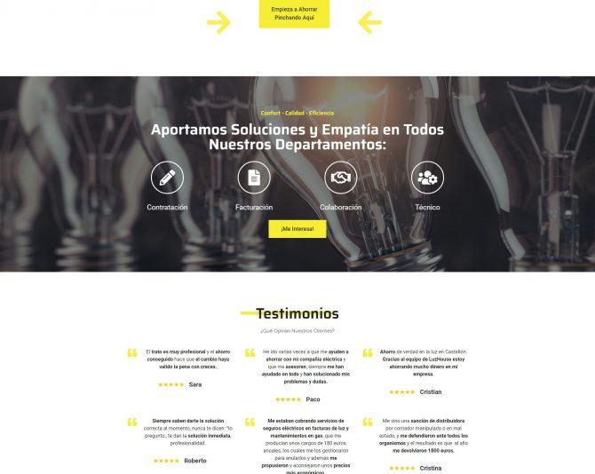 Presentamos la Web de Gestión LuzHouse gestionluzhouse.com + Autoadministrable + Web Premium + SEO Básico
