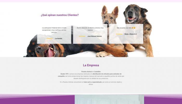 Presentamos la Web Básica en Castellón paraisoanimal.com + Autoadministrable + SEO + Web Básica