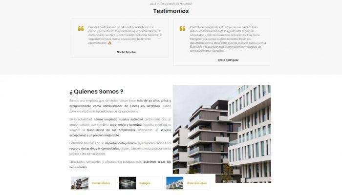 Presentamos la Web de Administrador de Fincas Castellón Esica www.esicacastellon.com + Autoadministrable + Web Premium + SEO Básico