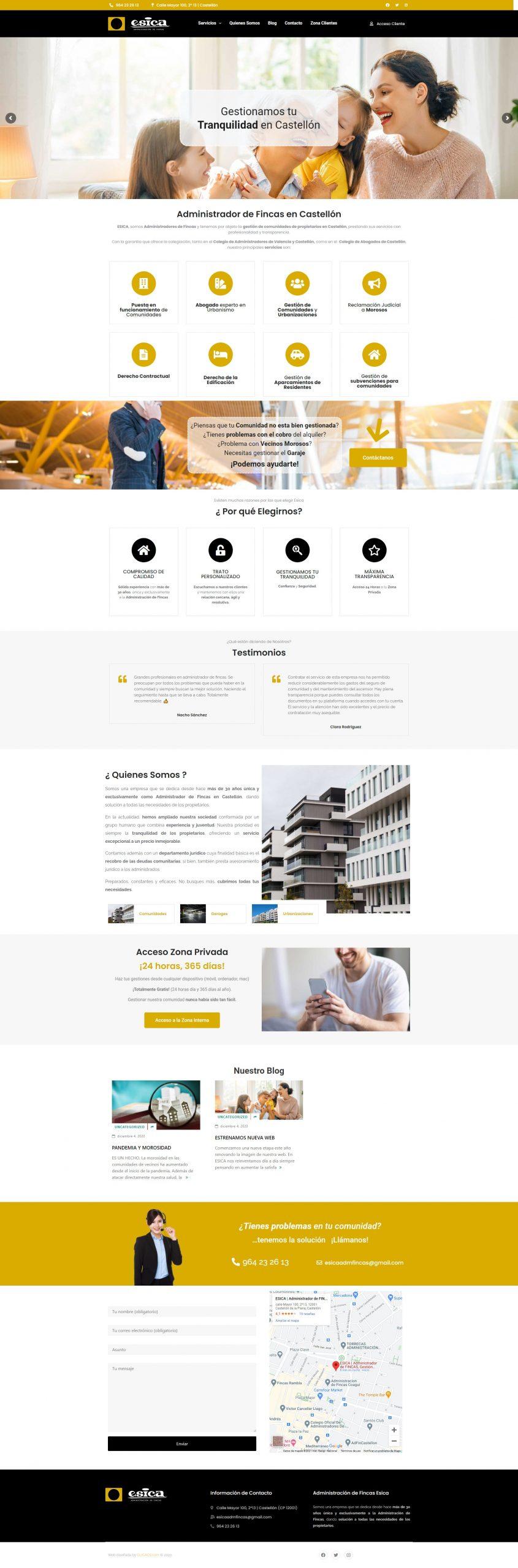 Administrador de Fincas Portfolio desarrollo página web en Castellón