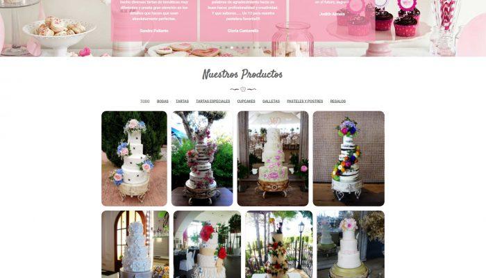 Presentamos la Web de la pastelería Corazón y Azúcar Castellón corazonyazucar.com + Autoadministrable + Catálogo Online + SEO