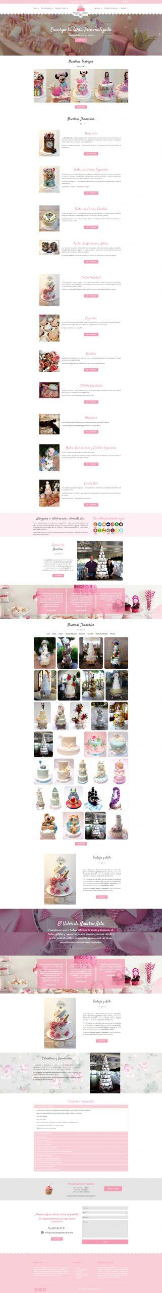 Corazón y Azúcar Pastelería Portfolio desarrollo página web en Castellón