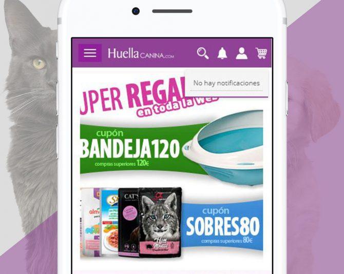 Presentamos la APP de Android Tienda Online de Huella Canina en Castellón
