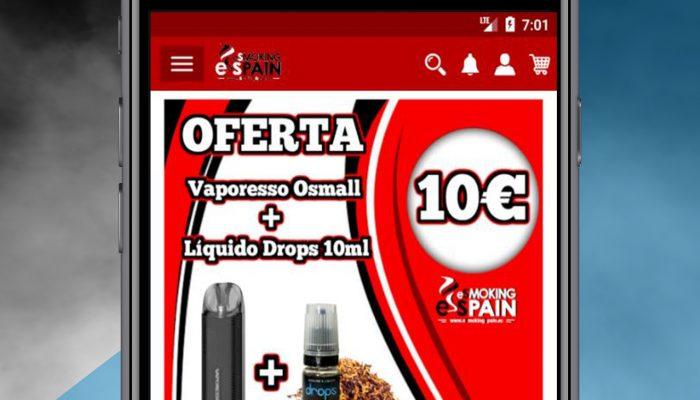 Presentamos la APP de Android Tienda Online de EsmokingSpain en Castellón