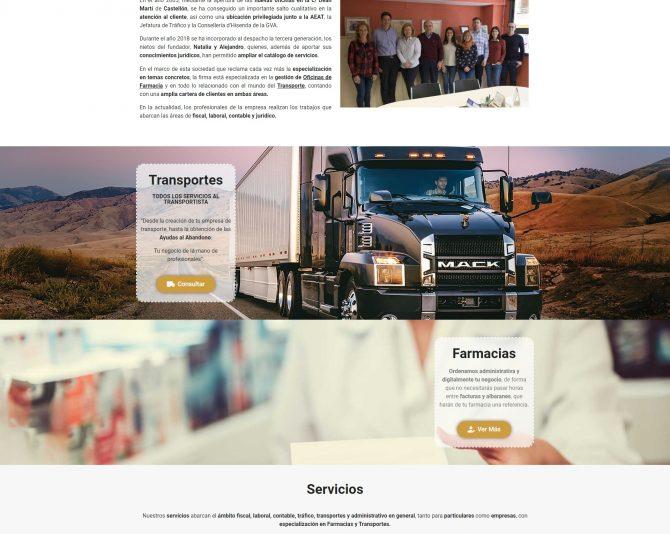 Presentamos la Web de Gestoría Asesoría Ramón Corma Castellón www.gestoriacorma.com + Autoadministrable + Web Premium + SEO Básico